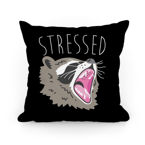 Stressed Raccoon Pillow