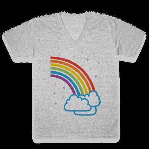 Rainbow Pair 2 V-Neck Tee Shirt