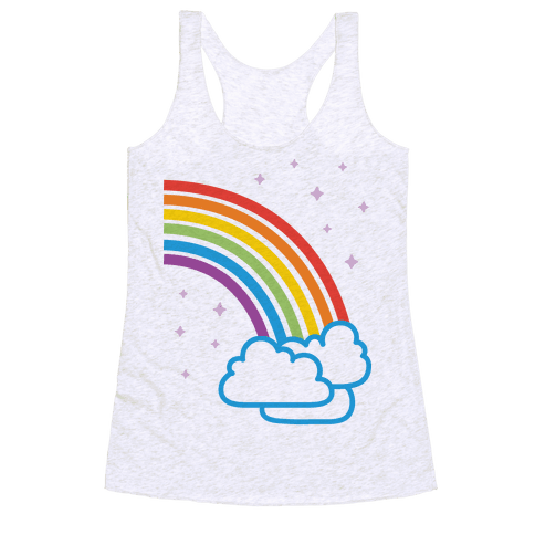 Rainbow Pair 2 Racerback Tank Top