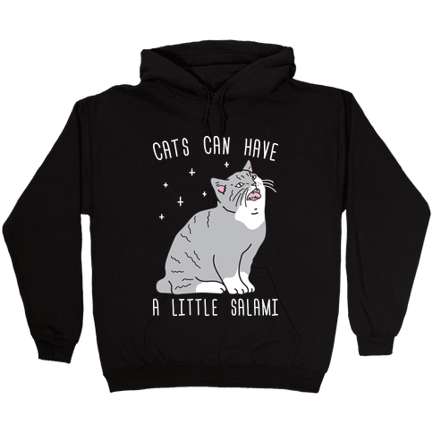Cats Can Have A Little Salami Hooded Sweatshirt