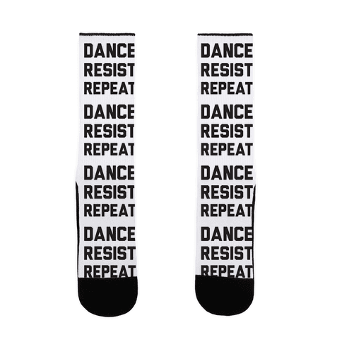 Dance Resist Repeat Sock