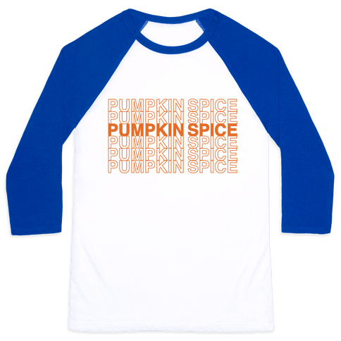 Pumpkin Spice Thank You Grocery Bag Parody  Baseball Tee