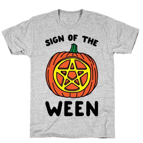 Sign of The Ween Halloween Parody T-Shirt