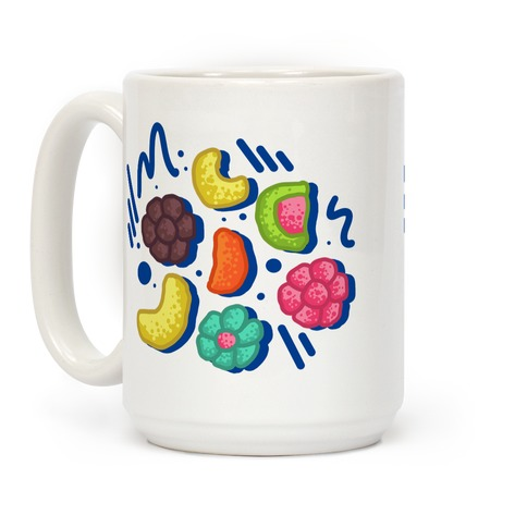 90's Cereal Pattern Coffee Mug