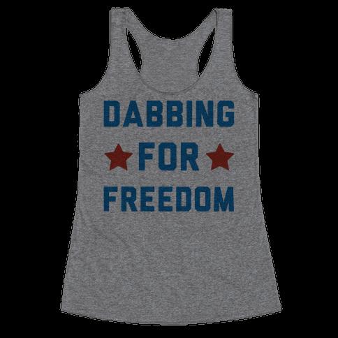 Dabbing For Freedom  Racerback Tank Top