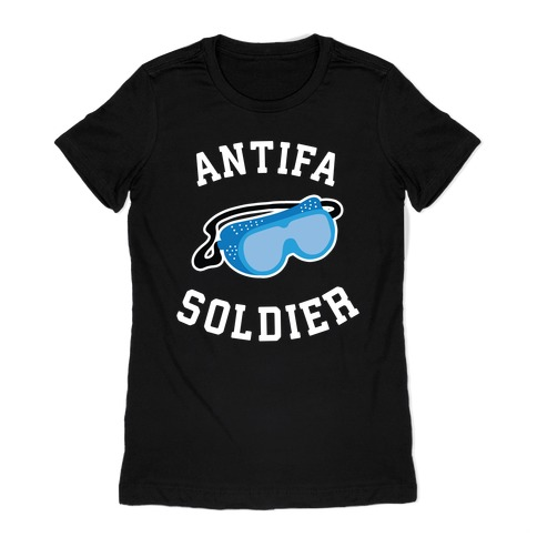 Antifa Soldier Womens T-Shirt
