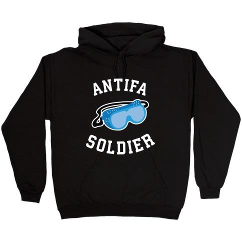 Antifa Soldier Hooded Sweatshirt