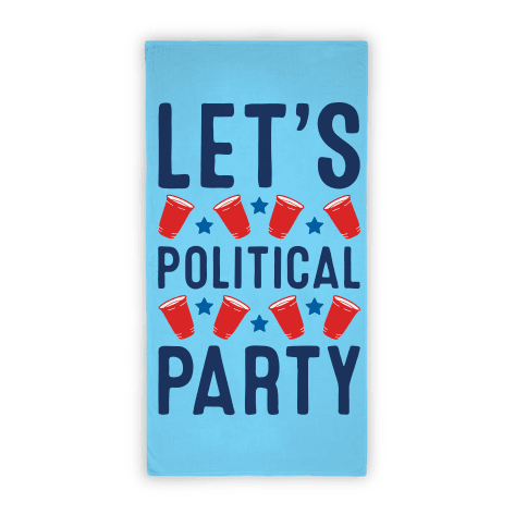 Let's Political Party (Towel) Beach Towel