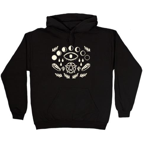 Occult Pixel Pattern Hooded Sweatshirt