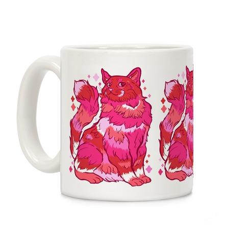 Lesbian Pride Cat Coffee Mug