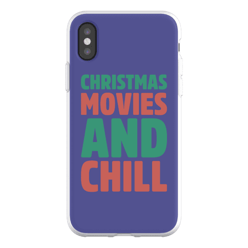 Christmas Movies and Chill Parody Phone Flexi-Case
