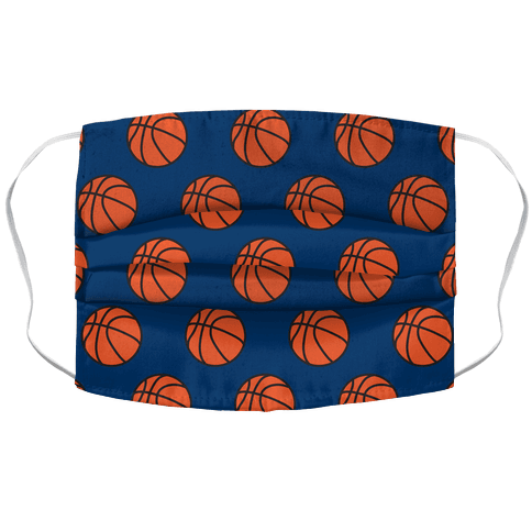 Basketball Pattern Accordion Face Mask