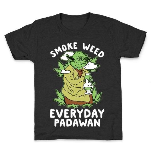 Smoke Weed Everyday Padawan Kids T-Shirt