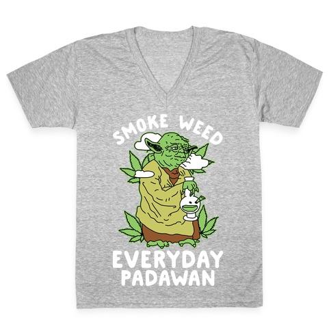 Smoke Weed Everyday Padawan V-Neck Tee Shirt