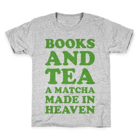 Books And Tea A Matcha Made In Heaven Kids T-Shirt