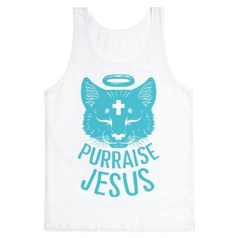 Purraise Jesus Tank Top