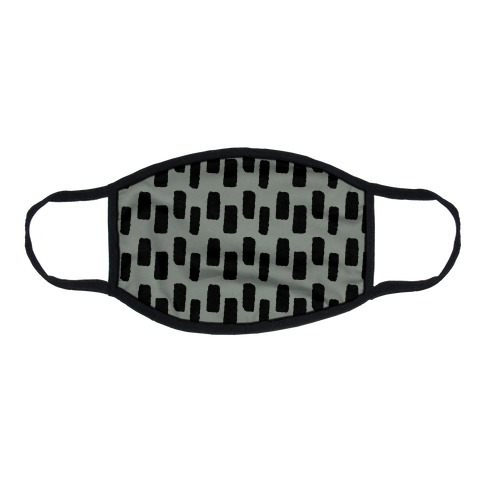 Organic Rectangle Pattern Grey Flat Face Mask