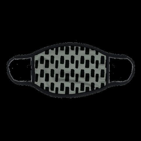 Organic Rectangle Pattern Grey Flat Face Mask