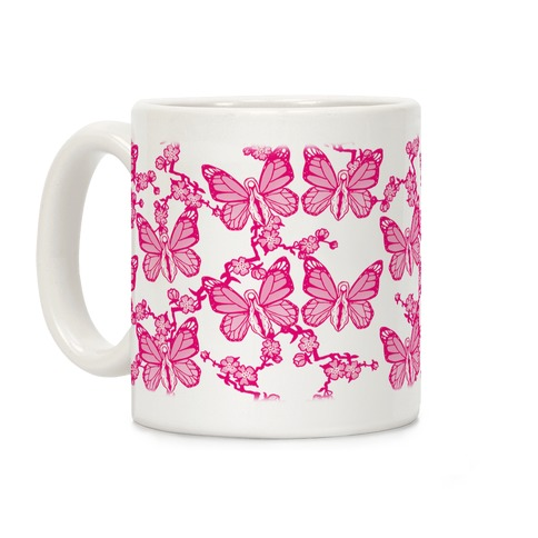 Butterfly Vagina Pattern Coffee Mug