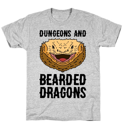 Dungeons And Bearded Dragons Mens/Unisex T-Shirt