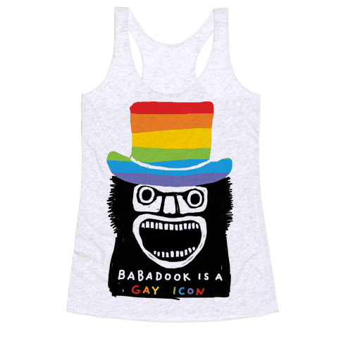 Babadook Is A Gay Icon Racerback Tank Top