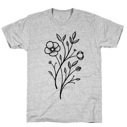 Wildflower Stippled Tattoo T-Shirt