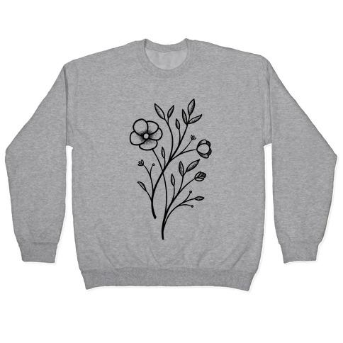 Wildflower Stippled Tattoo Pullover