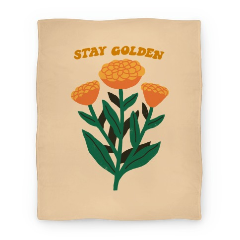 Stay Golden Marigolds Blanket