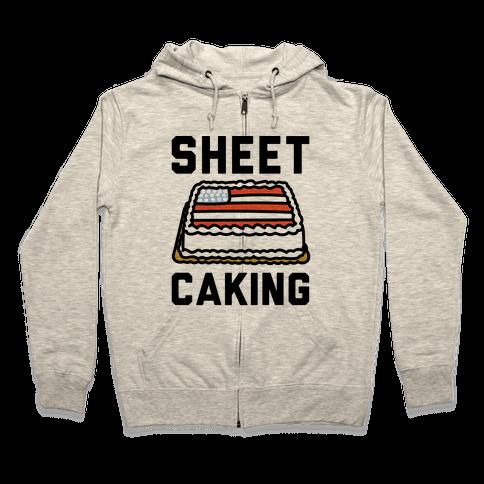 Sheet Caking  Zip Hoodie