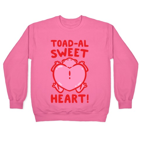 Toad-al Sweet Heart White Print Pullover