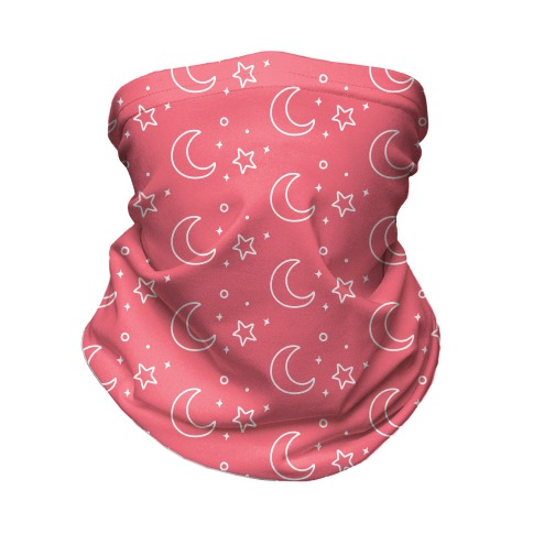 Coral Night Sky Neck Gaiter