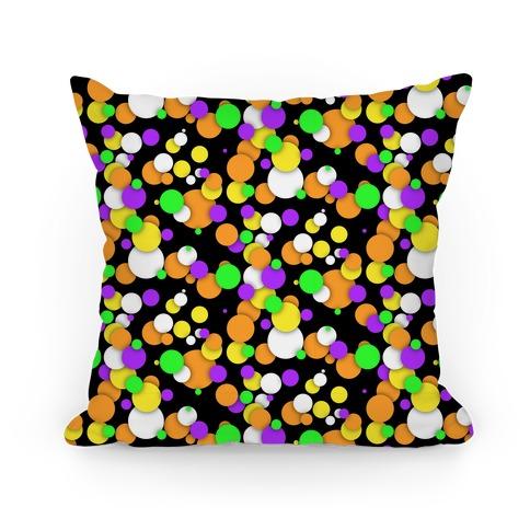 Halloween Confetti Pattern Pillow