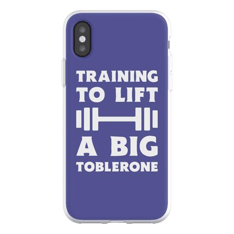 Training To Lift A Big Toblerone Phone Flexi-Case