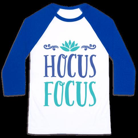 Hocus Focus Yoga Baseball Tee
