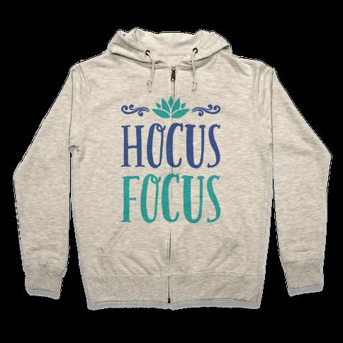 Hocus Focus Yoga Zip Hoodie