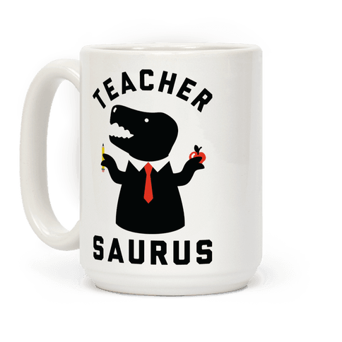 Teacher Saurus Tie Coffee Mug