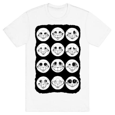 Ominous Faces B&W T-Shirt