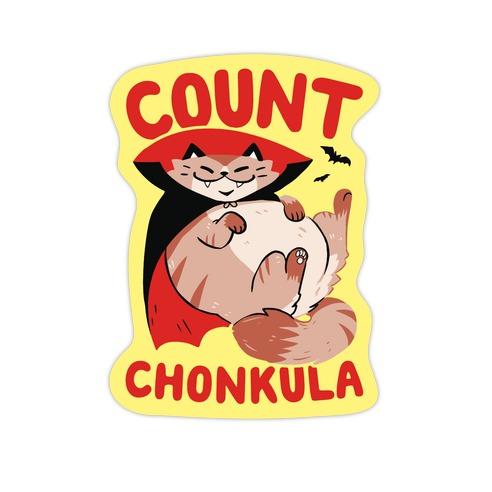 Count Chonkula Die Cut Sticker