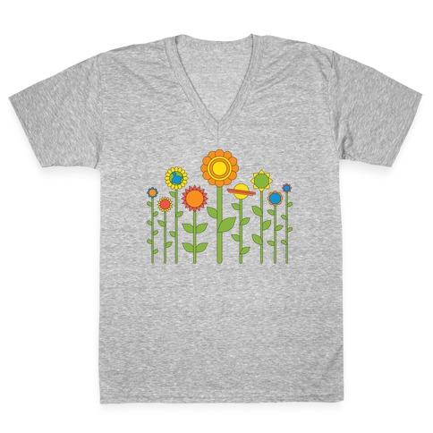 Plant Planets V-Neck Tee Shirt