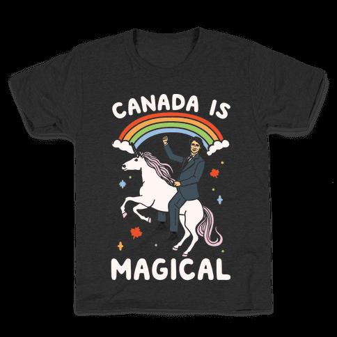Canada Is Magical White Print Kids T-Shirt