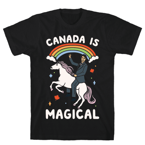 Canada Is Magical White Print  Mens T-Shirt