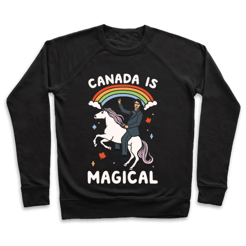 Canada Is Magical White Print  Pullover