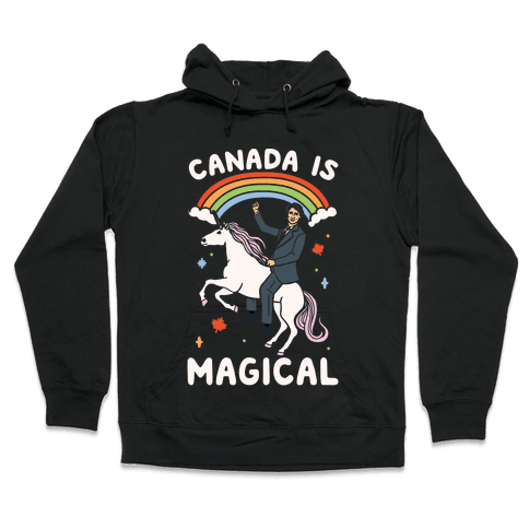 Canada Is Magical White Print Hooded Sweatshirt