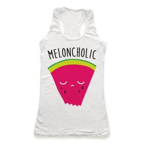 Meloncholic Watermelon Racerback Tank Top