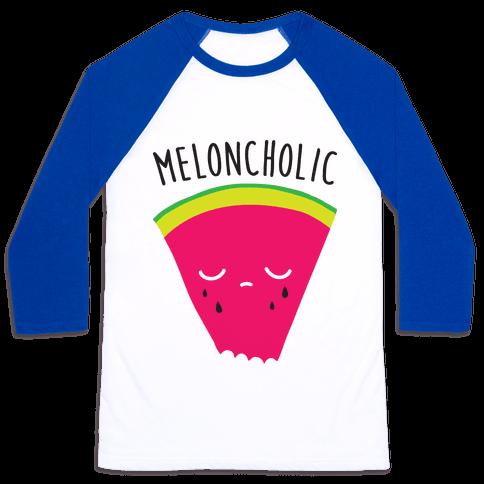 Meloncholic Watermelon Baseball Tee