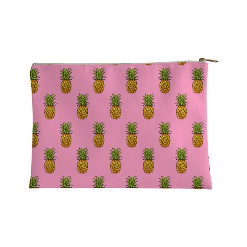Pink Pineapple Pattern Accessory Bag