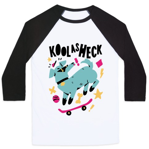 Kool as Heck Doggo Baseball Tee