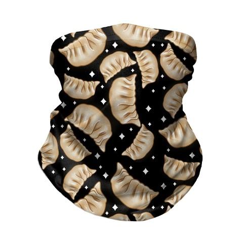 Dumplings Pattern Black Neck Gaiter