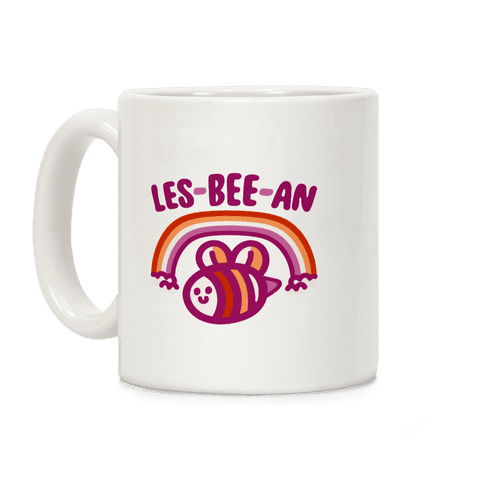 Lesbeean Lesbian Pride Bee Parody Coffee Mug