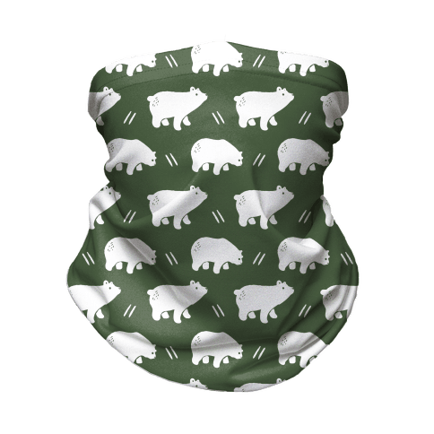 Bear Chive Boho Pattern Neck Gaiter